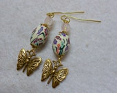 Easter Earrings, Butterfly Earrings, Easter Egg Earrings, Easter Jewelry