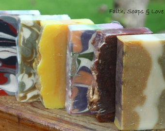 Soap of the Month Club - 6 Month Membership - Homemade Soap - Essential/Fragrance Oil Handmade Bar Soap - Scripture - John 3:16 - Christian