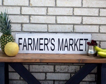 Farmer's Market Painted Wood Sign Vintage Style