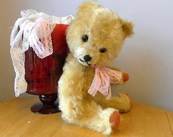 """Vintage Bear - Mohair 15"""" Bear - European Toy Teddy - 1960's Toy"""