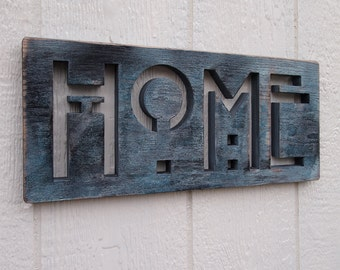 HOME Oak SIGN in Sea CLEARANCE
