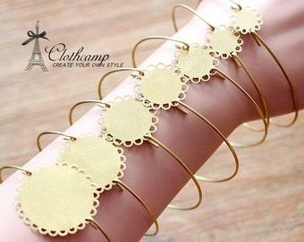 10Pcs Raw Brass Lace Blank Base Bangle Bracelet 10mm.12mm.15mm.18mm.20mm.25mm.30mm Setting  (CBS-13)