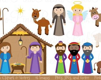 Nativity Clip Art Clipart Nativity Scene Clip Art Clipart Christmas Clip Art Clipart - Commercial Use