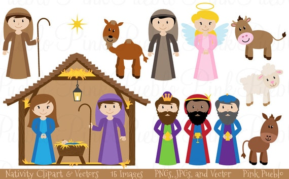 nativity clip art clipart nativity scene clip art clipart rh etsy com nativity scene clipart black and white nativity scene clip art free