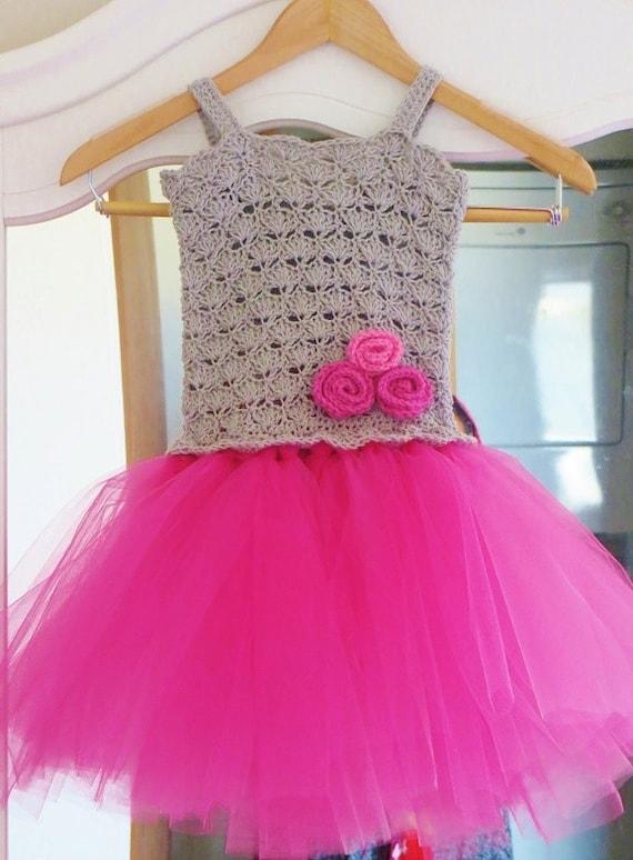 Crochet Baby Tutu Dress Pattern : Crochet Baby Dress Pattern, Instructions , Crochet Tutu ...
