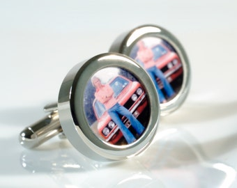 First Car Cufflinks Favourite Car Personalised Gift for Him Full of Memories