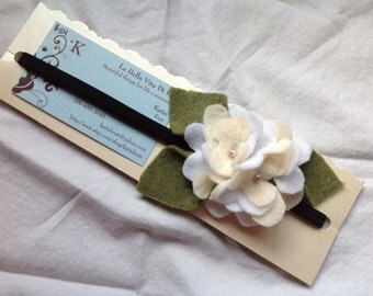 White and cream hydrangea headband, special ocassion/holiday/kids/adults