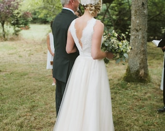 Ally lace tulle Wedding Dress