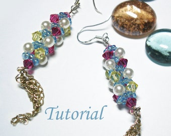Beading Tutorial - Beaded Candy Stick Earrings