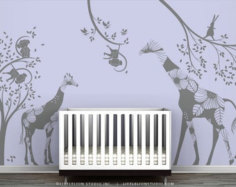 Gray Kids Playroom Wall Decal Set - Eat, Play and Sleep - Special Editions by LittleLion Studio