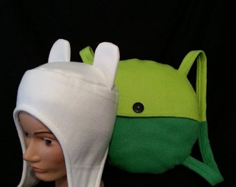 Finn Hat/Backpack Combo- Adventure Time Inspired Finn the Human Costume Cosplay Set