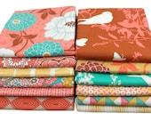 Half Yard Bundle - Joel Dewberry - BUNGALOW Honeysuckle Palette - Free Spirit Fabric - 12 pcs