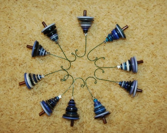 Breathtaking Blues Button Christmas Tree Ornament - Proceeds Benefit Cancer Research