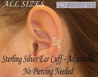 STERLING SILVER .925 Double Wrapped Loop Tragus/Nose/Ear Cuff, Non Pierced Cuff