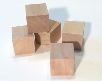25 Wooden Blocks - 25 blocks 3/4 inch Cubes