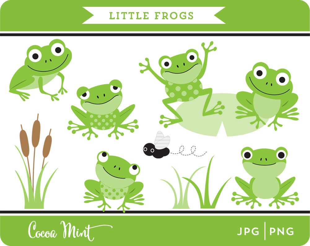 Items similar to Little Frogs Clip Art on Etsy