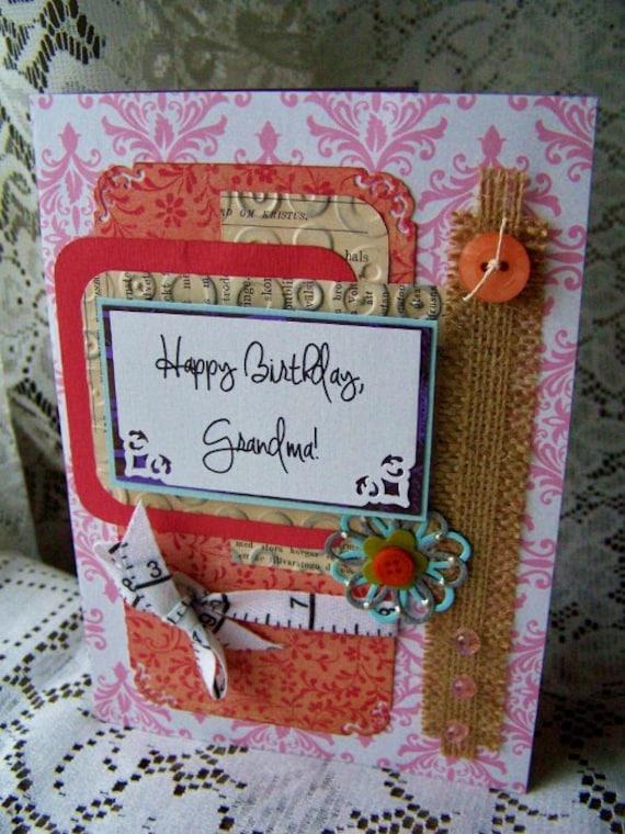Homemade Birthday Cards For Grandma ~ Happy birthday grandma handmade greeting card by bennboocreations