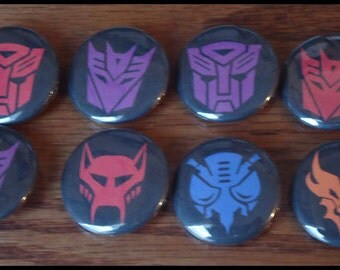 Transformers Symbols Pins - Choice of Two