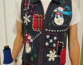 Ugly Christmas Sweater Vest, SIZE medium