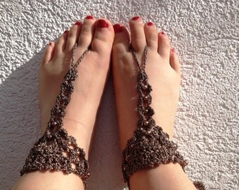 PDF Pattern Beads and Shells Barefoot Sandals PDF Pattern instant download
