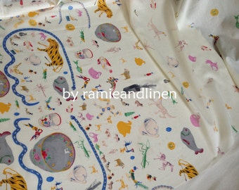 """fine cotton fabric, chinese toys print, cotton muslin, half yard by 54"""" wide"""