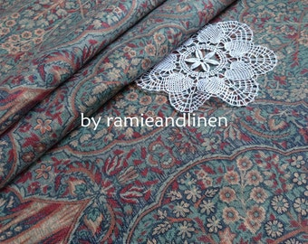 """cotton fabric, floral in the forest print cotton canvas fabric, made in UK, Upholstery Fabric, half yard by 56"""" wide"""