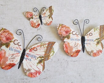 Butterflies, Scrapbooking, Mixed Media, Shabby Chic, Tag Art, Vintage, Wedding (4)
