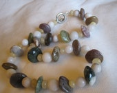 Fancy Jasper and Quartz Necklace