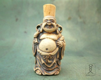 Buddha Pendant, Ceramic Bottle Pendant, High Fired Clay Vessel, 1pc
