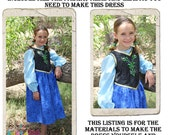 Anna Dress DIY Kit, Includes all the fabric, trims and pattern you need to make your own dress, sizes 2-8