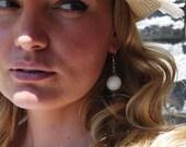 White Coral Shabby Chic Earrings, French Country Earrings, Boho Bride Jewelry, Romantic Beach Wedding Earrings