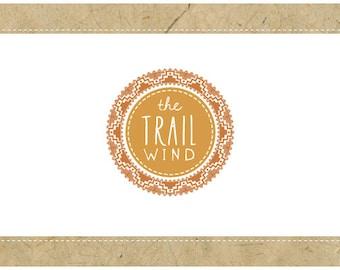 SALE - PreDesigned Custom Logo Design TRAIL WIND Logo