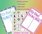 Organize Boy or girl CHORES CHARTS ready to apply magnetic sheet DIY 337 childrens To Do activities to personalize arttoart home school