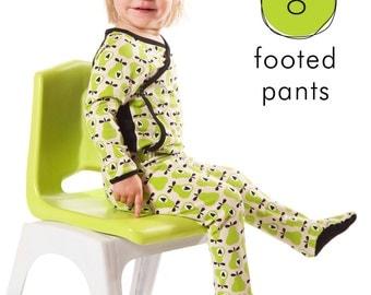 Baby leggings pdf pattern with footies, easy photo tutorial, sizes... Preemie to 3T -Pattern 8