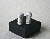 White Porcelain Bisque Doll Fists for Altered Art Doll Making and Spooky Decor