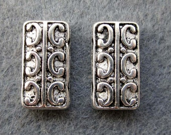 20Pieces Tibetan Style Alloy Metal Double Sides 2Holes Connector Link Beads Finding--20Pcs--14mm x 8mm  ja241