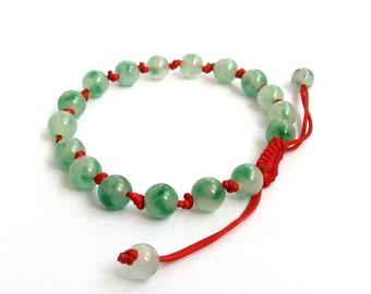 8mm Knotted Flower Stone Beads Prayer Beads Wrist Mala Bracelet For Meditation  T2692