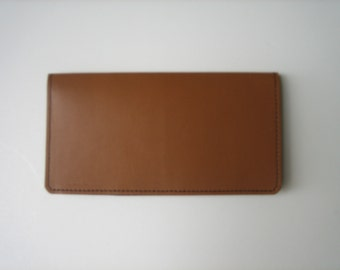 Butterscotch Leather Checkbook Cover