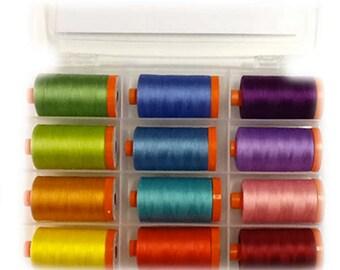 Aurifil SAQA II SignatureThread Collection Aurifil thread SASN50K12 50 wt cotton Mako 12 Large spools