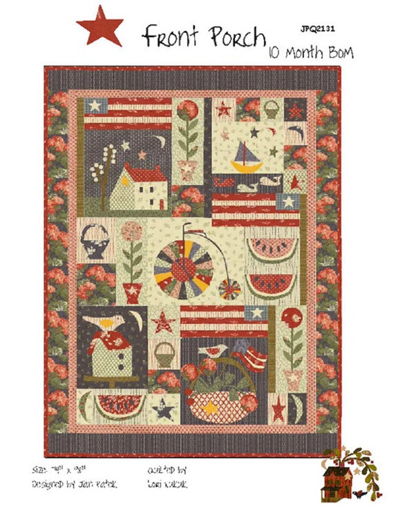 Jan Patek Front Porch BOM Quilt Pattern -   JPQ 2131