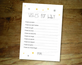 Twinkle twinkle little star : Printable Wishes for Baby game