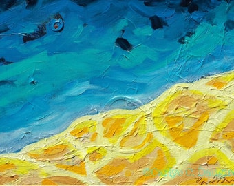 Abstract Southwest Mountain Acrylic Painting
