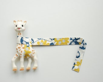 Sophie Saver - Mustard and blue floral