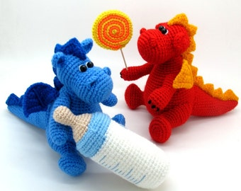 Grow, baby! - Little Dragon - pdf crochet toy pattern