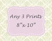 Discounted Set of 3,  Choose Any 3 Photos, Custom prints, Fine Art Photography