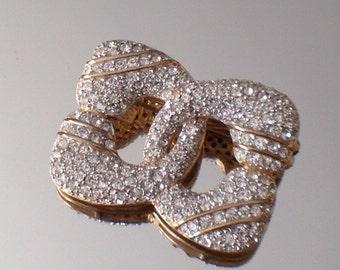 Vintage Pave Brooch Sterling Silver Vintage Italian Designer Jewelry