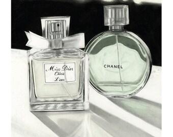 5x7 Illustration Print - 'Miss Dior'