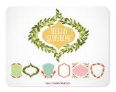 Flower Garden Wreaths and Frames Clip Art - Blog Graphics - Instant Download