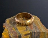 Ring, Size 8-1/2, Copper, Bronze, Steel, Unisex, Masculine