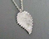 CLEARANCE Silver Leaf Necklace, Leaf Pendant, Nature Jewelry